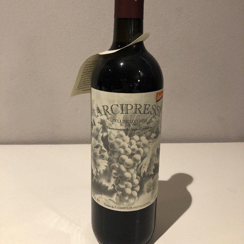 Arcipressi Chianti colline lucchesi doc 2016 uve sangiovese, canaiolo, ciliegiolo ,malvasia nera